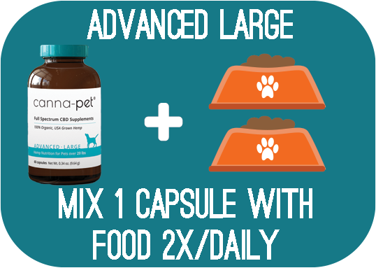 Capsules: Canna-Pet® Advanced Large- 60 capsules - Mix 1 capsule with food 2x daily