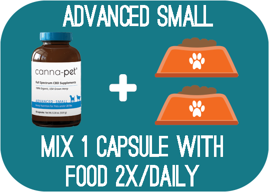 Capsules: Canna-Pet® Advanced Small – 60 capsules - Mix 1 capsule with food 2x daily