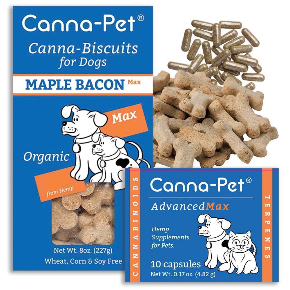 Canna-Pet Max biscuits and pills